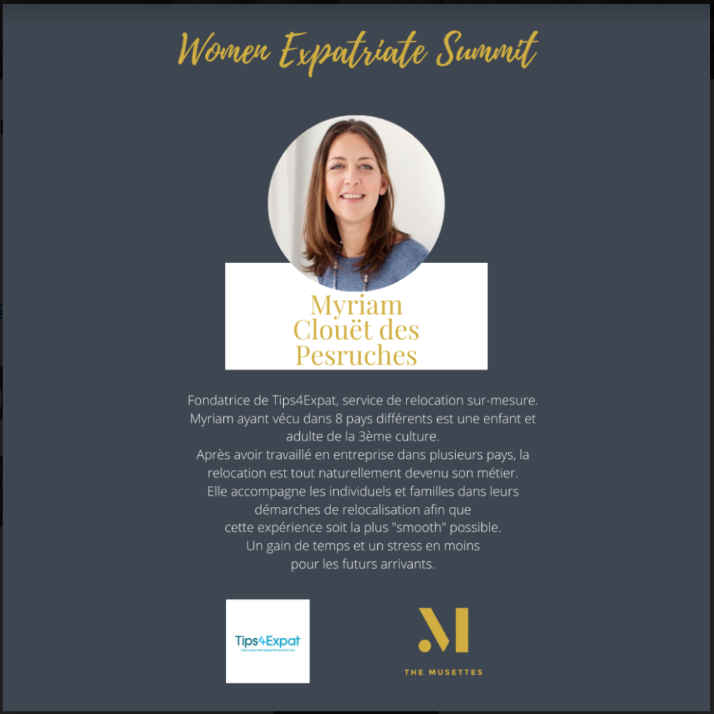 The Musettes - Women Expatriate Summit - Myriam Clouët des Pesruches - Tips4Expat