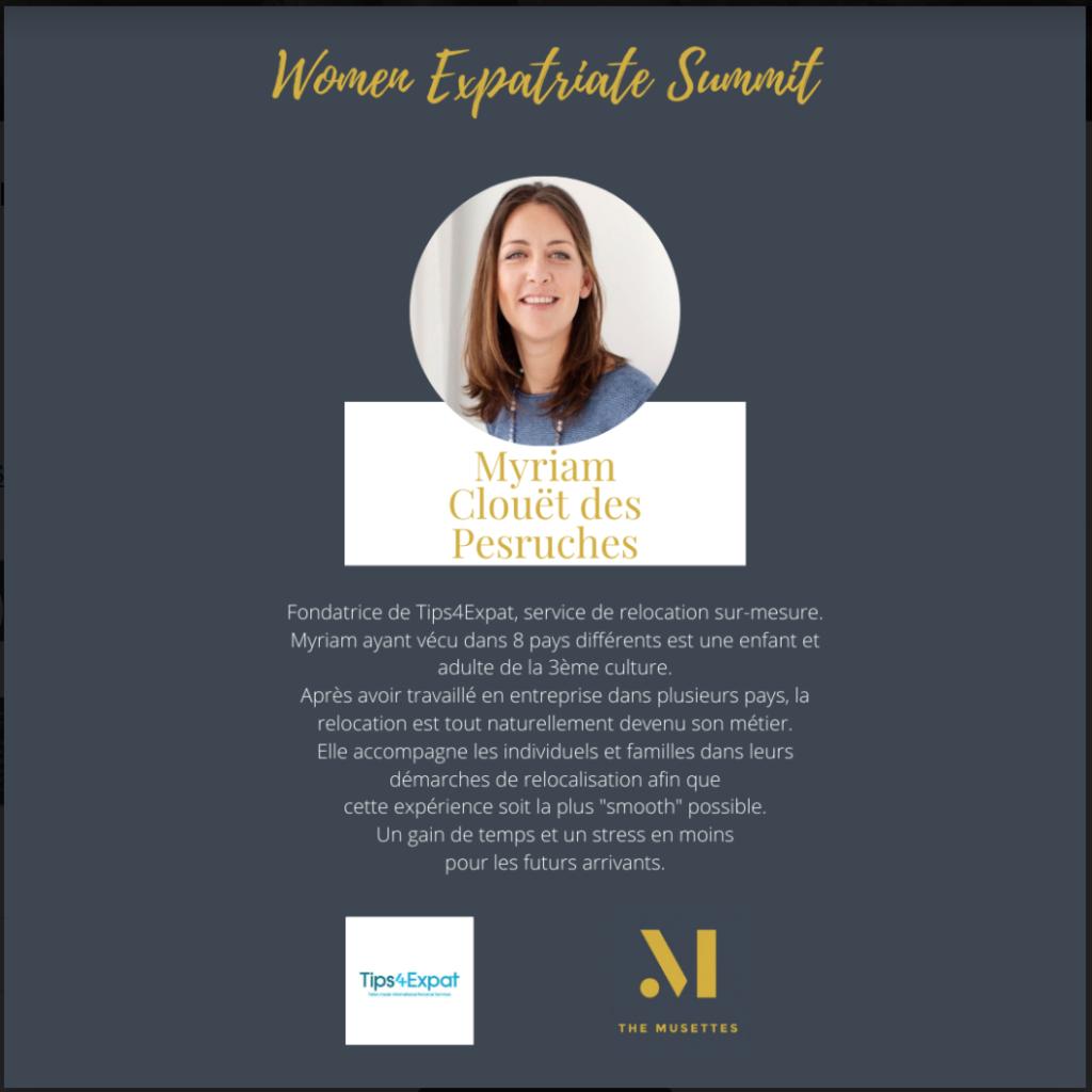The Musettes - Women Expatriate Summit - Myriam Clouët des Pesruches - Tips4Expat
